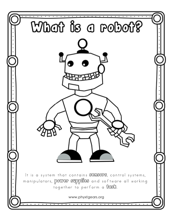 Robot Coloring Sheet